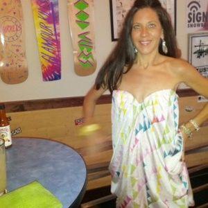 Mara Hoffman Strapless Drape Dress